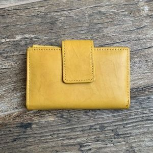 NWOT Croft & Barrow Leather Wallet, Yellow